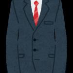 スーツのCMに出てる人はみんな細身なのに・・・・。