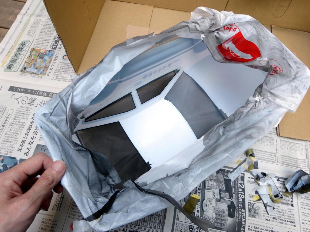 AE86塗装済ボディマスク