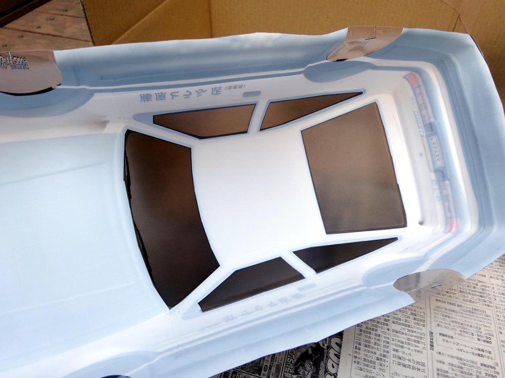 AE86塗装済ボディスモーク