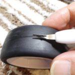 ラジコンのタイヤのパーティングライン(バリ)を簡単にカットできるアイテム