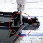 TT-02Sでは、ヘックスビスを使い、ネジ穴はタップを立てるのがおすすめ