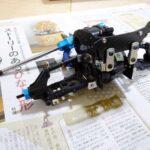 四独グラスホッパー2号機の製作5(サスアームの仮取り付け編)